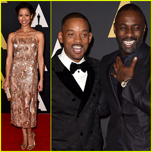 Will Smith & Idris Elba Buddy Up at Governors Awards 2015!