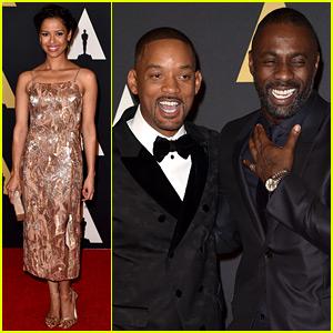 Will Smith & Idris Elba Buddy Up at Governors Awards 2015!