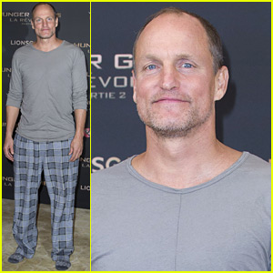Woody Harrelson Wears His Pajamas to Promote 'Mockingjay'