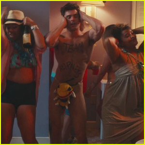 Zac Efron Strips Down While Doing the Macarena in New 'Dirty Grandpa' Red Band Trailer - Watch Now!