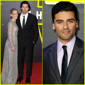 Adam Driver & Oscar Isaac Suit Up for 'Star Wars: The Force Awakens' London Premiere