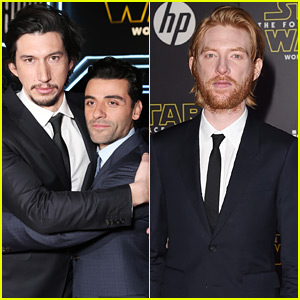 Adam Driver, Oscar Isaac, & Domhnall Gleeson Arrive for 'Star Wars: The Force Awakens' Premiere!