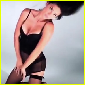 Adriana Lima Displays Tons of Cleavage for Love Mag's Advent Video - Watch Now!
