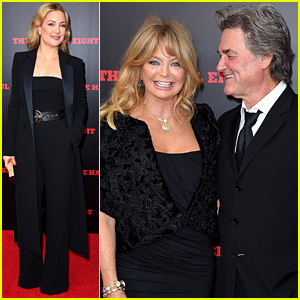 Kate Hudson Supports Kurt Russell at 'The Hateful Eight' NYC Premiere