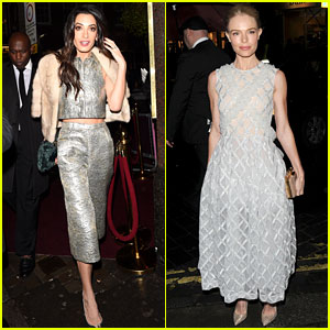 Amal Clooney & Kate Bosworth Glam Up for Night Out in London