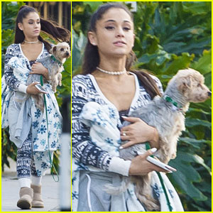 Ariana Grande Wears a Winter Onesie While Shopping in L.A.