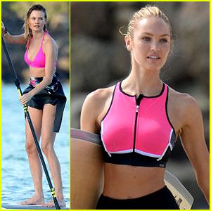 Behati Prinsloo & Candice Swanepoel Flaunt Fit Figures in St. Barts!