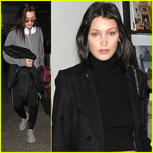 Bella Hadid Feasts With Sister Gigi Before Flight Home For the Holidays