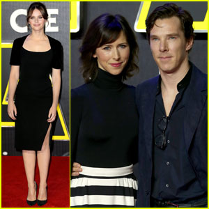 Benedict Cumberbatch & Felicity Jones Dress Up for 'Star Wars' Premiere in London