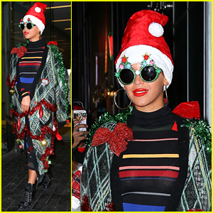 Beyonce Wears a Santa Hat for Her Office Christmas Party!