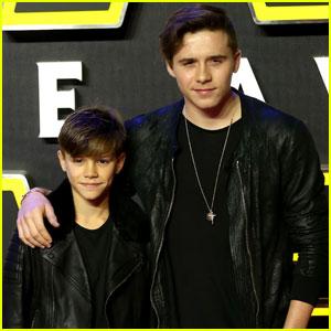 Brooklyn & Romeo Beckham Buddy Up for 'Star Wars' Premiere
