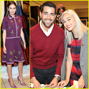 Camilla Belle, Jesse Metcalfe & Cara Santana Make Holiday Ornaments at Brooks Brothers' Holiday Party For St. Jude