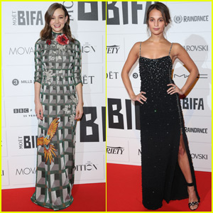 Carey Mulligan & Alicia Vikander Are Best Actress Beauties at Moet British Independent Film Awards 2015