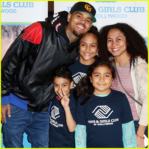 Chris Brown Hands Out Holiday Gifts at Boys & Girls Club of Hollywood