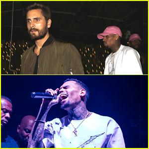 Scott Disick Introduces Chris Brown's Surprise Performance at 1OAK!