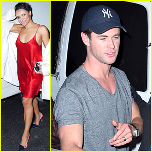 Chris Hemsworth & Kat Graham Hit Up SNL After Party