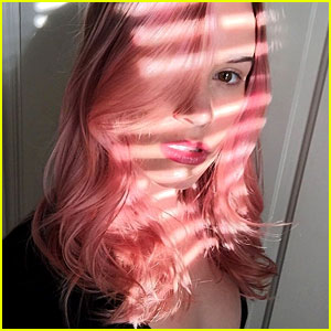 Christa B. Allen Debuts Bright New Pink Hair Hue