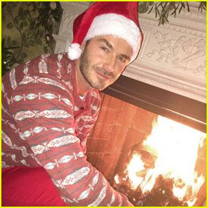 David Beckham Makes For One Hot Fireside Santa Claus!