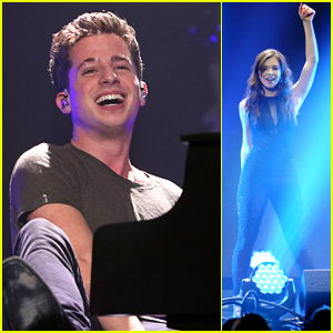 Charlie Puth Celebrates Grammy Noms At Jingle Ball in Minnesota with Hailee Steinfeld