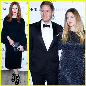 Drew Barrymore & Julianne Moore Get Glam For ACRIA's 20th Anniversary Holiday Dinner!