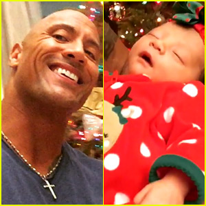 Dwayne 'The Rock' Johnson Sings to Newborn Daughter By the Christmas Tree (Video)