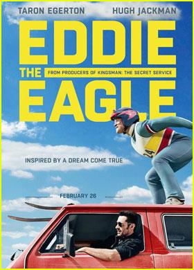 Hugh Jackman & Taron Egerton Team Up in First 'Eddie the Eagle' Trailer - Watch Now!