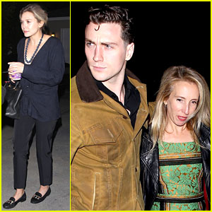 'Avengers' Stars Elizabeth Olsen & Aaron Taylor-Johnson Reunite at Jennifer Klein's Holiday Party!