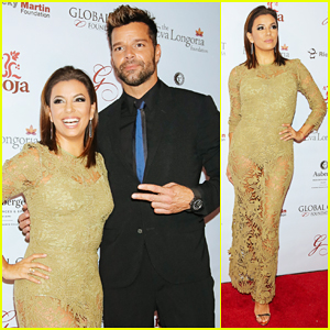 Eva Longoria Hosts Global Gift Foundation Dinner with 'Spiritual Twin' Ricky Martin!
