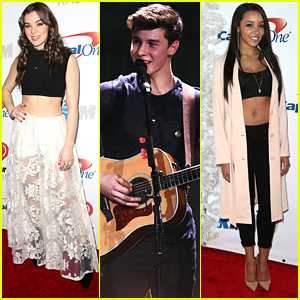 Hailee Steinfeld Performs At Jingle Ball LA 2015 with Shawn Mendes