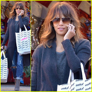 Halle Berry Goes Holiday Shopping After Partying in Hollywood