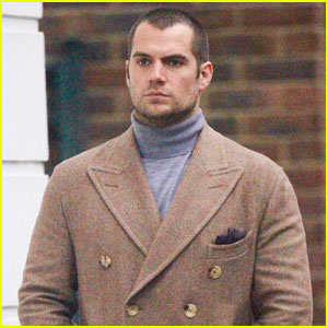 Henry Cavill Rocks a Serious Gray Turtleneck in London