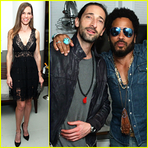 Hilary Swank & Adrien Brody Kick Off Miami's Art Basel 2015!