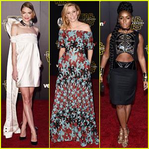 Jaime King & Elizabeth Banks Hit the 'Star Wars' Red Carpet!