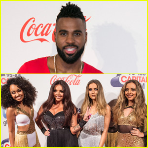 Jason Derulo & Little Mix Perform 'Secret Love Song' at London Jingle Ball 2015 - Watch Now!