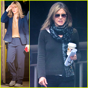 Jennifer Aniston Get Into Character On 'The Yellow Birds' Set