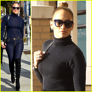 Jennifer Lopez Hits the Pavement in Sexy Boots While Shopping