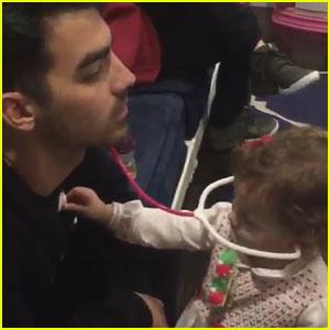 Joe Jonas Gets a Christmas Checkup from Niece Alena! (Video)