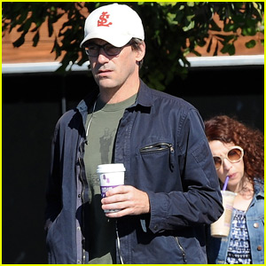 Jon Hamm Steps Out Ahead of 'Toast of London' Guest Spot