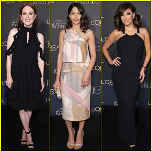 Julianne Moore & Freida Pinto Help Honor L'Oreal Paris Women of Worth 2015!