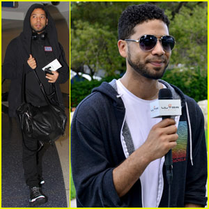 Empire's Jussie Smollett Rehearses for Miami New Year's Eve