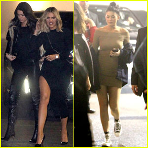 Kardashian & Jenner Sisters Hit Up The Weeknd Concert
