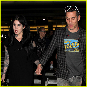 Kat Von D & Steve-O Step Out After Confirming Romance