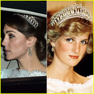 Kate Middleton Wears Princess Diana's Old Tiara - See Photos!