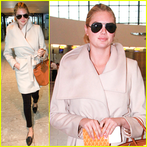 Kate Upton Arrives in London, But Is Still on L.A. Time!