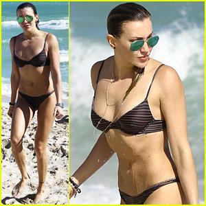 Arrow's Katie Cassidy Soaks Up the Sun in Her Bikini!