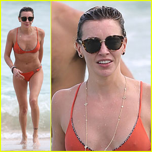 'Arrow' Star Katie Cassidy Flaunts Her Beach Bod in an Orange Bikini