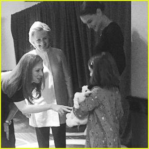 Katie Holmes Brings Daughter Suri Cruise To Meet Hillary & Chelsea Clinton!
