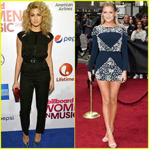 Tori Kelly & Kelsea Ballerini Hit The Red Carpet For Billboard's Women in Music 2015