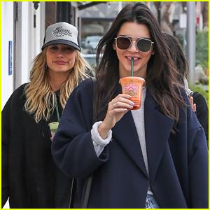 Kendall Jenner & Hailey Baldwin Brave The Rain For Last Minute Christmas Shopping