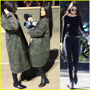 Kendall & Kylie Jenner Spend Time With Their Nephew Reign!